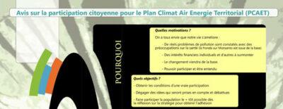 Avis sur le PCAET (Plan Climat Air Energie Territorial)